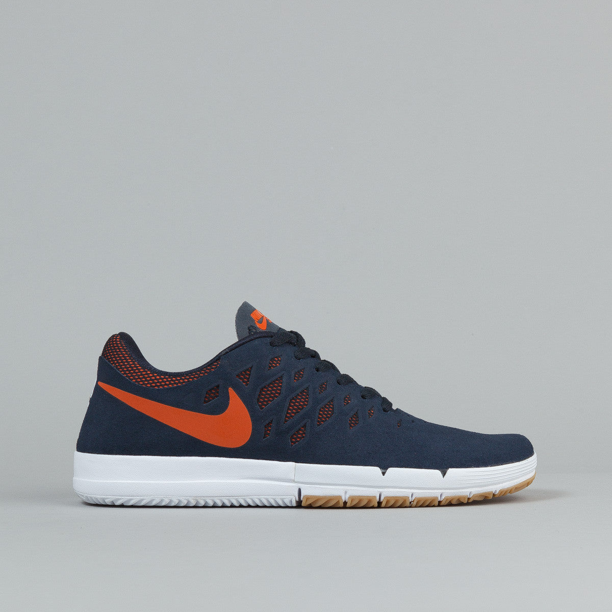 Nike SB Free Shoes - Dark Obsidian / Unv Orange / - White