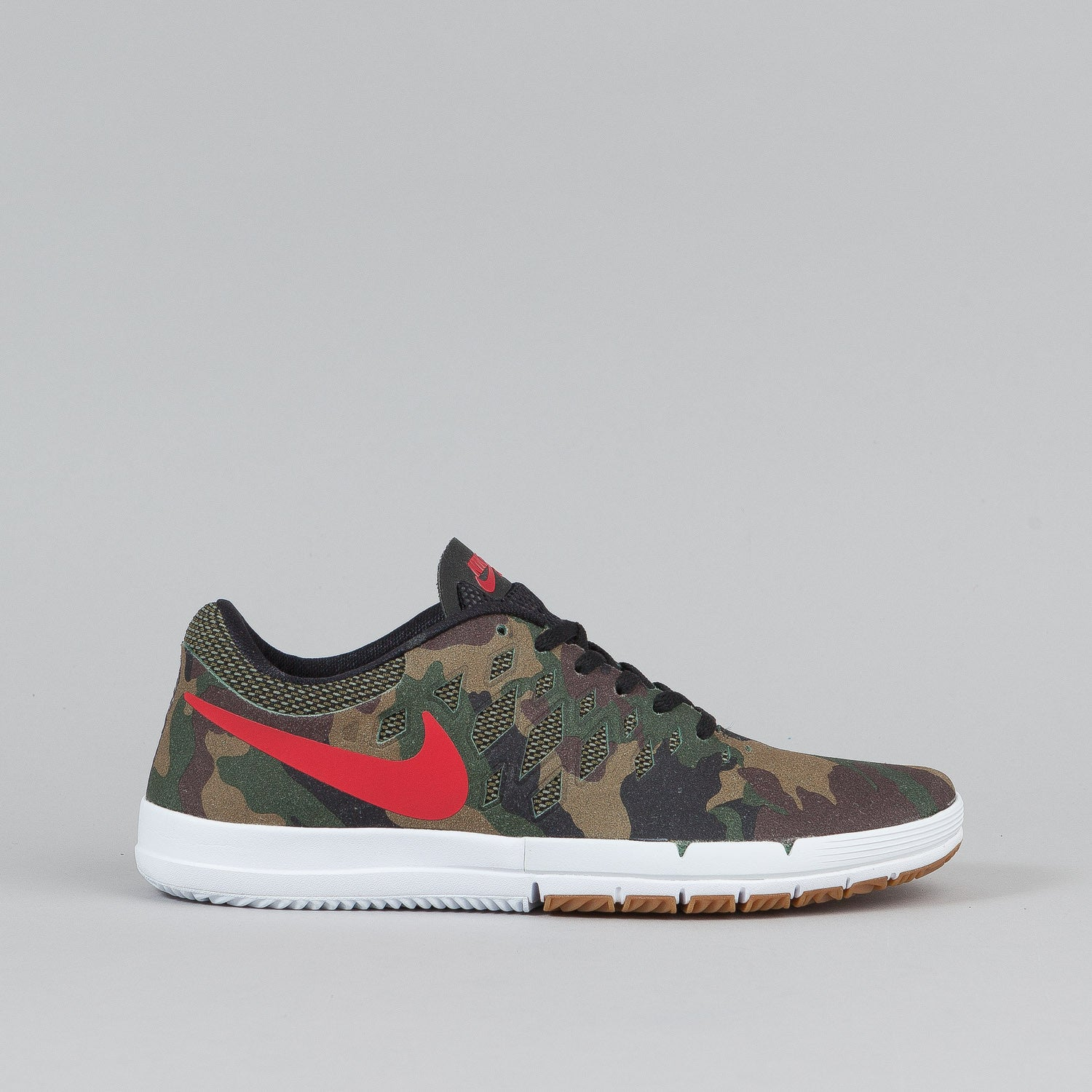 nike sb free shoes premium qs fortress green gym red. Black Bedroom Furniture Sets. Home Design Ideas