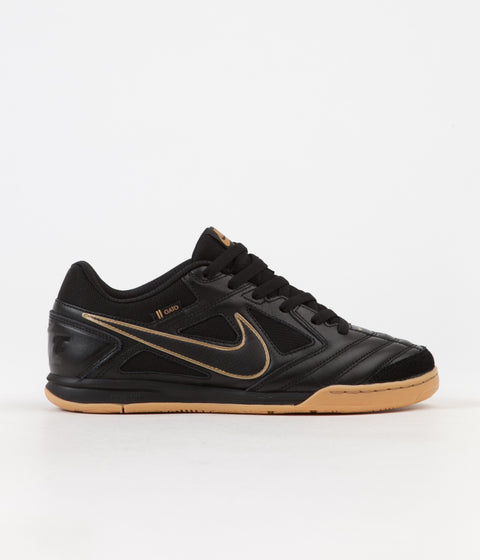 Nike SB Gato Shoes - Black / Black - Metallic Gold - Gum Yellow