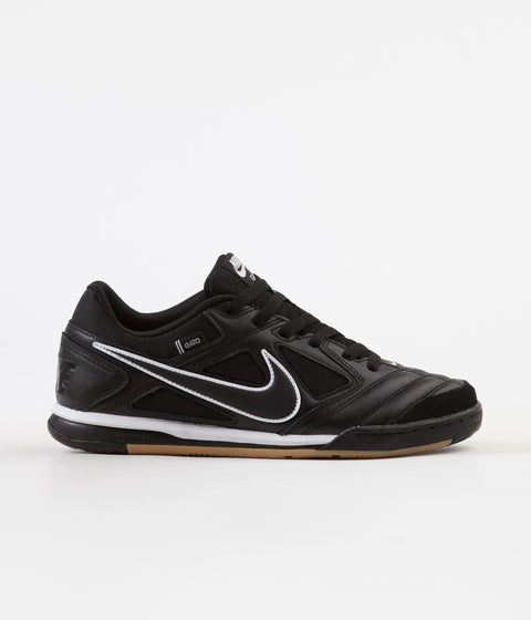 Nike SB Gato Shoes - Black / Black - White - Gum Light Brown
