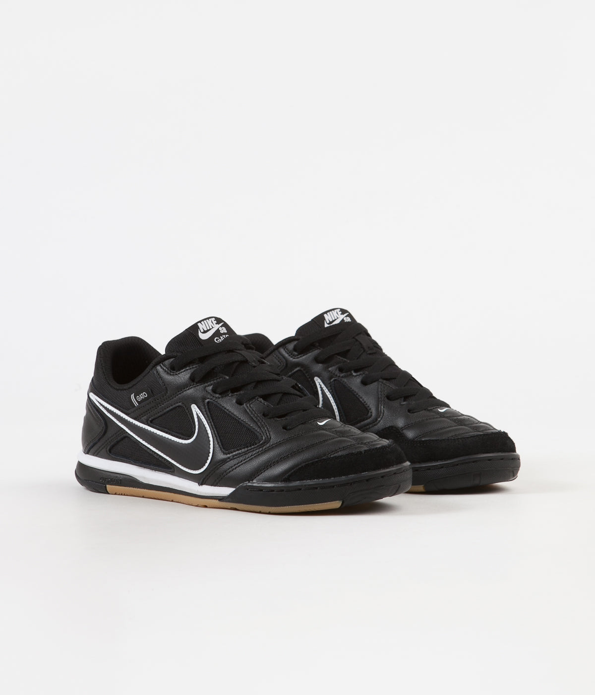 d367201762 ... Nike SB Gato Shoes - Black   Black - White - Gum Light Brown ...