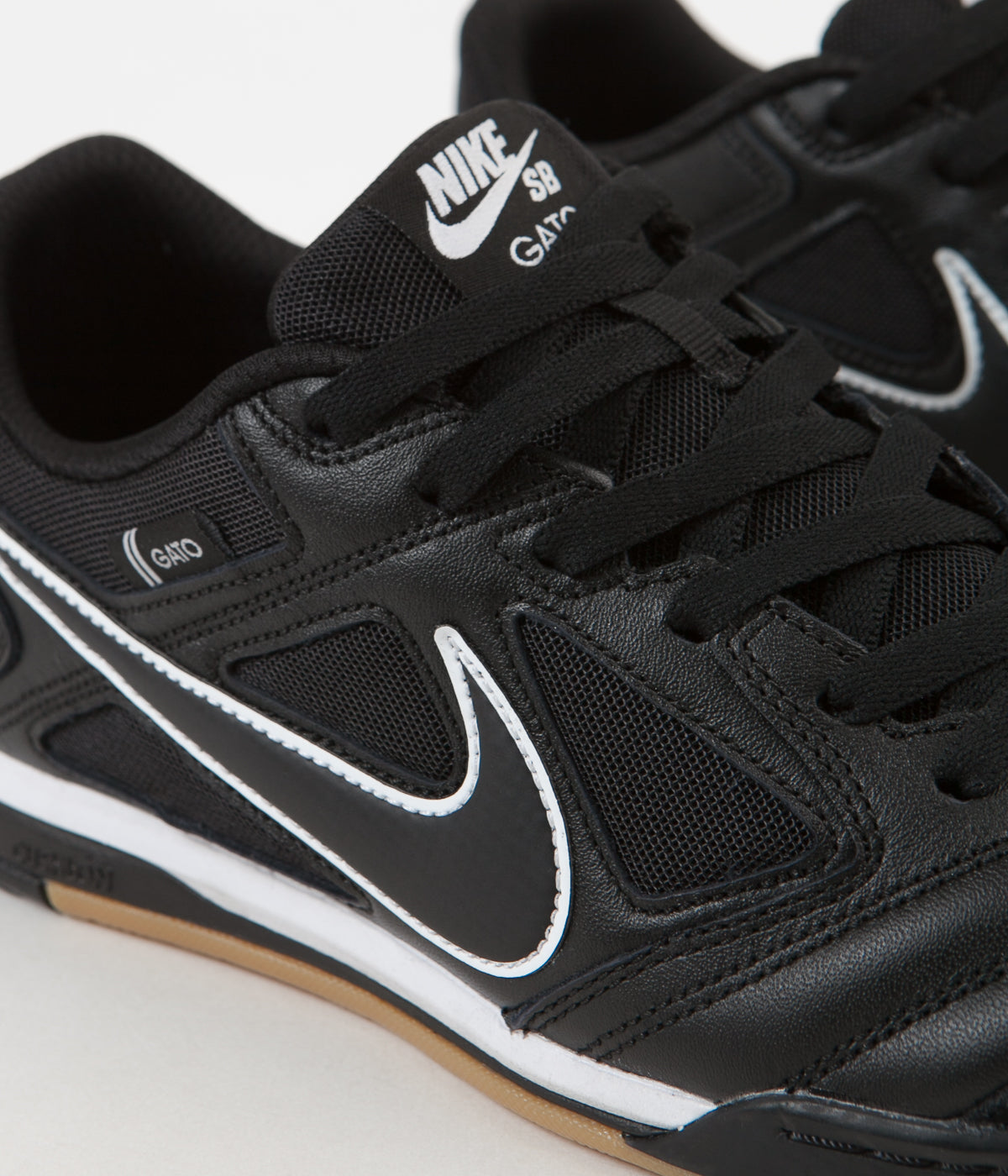 d95a2ab4eb5 ... Nike SB Gato Shoes - Black   Black - White - Gum Light Brown ...