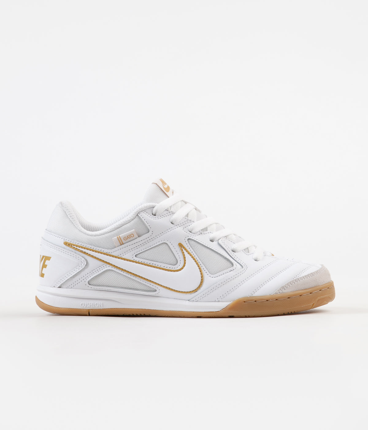 buy popular 06776 19e91 Nike SB Gato Shoes - White   White - Metallic Gold