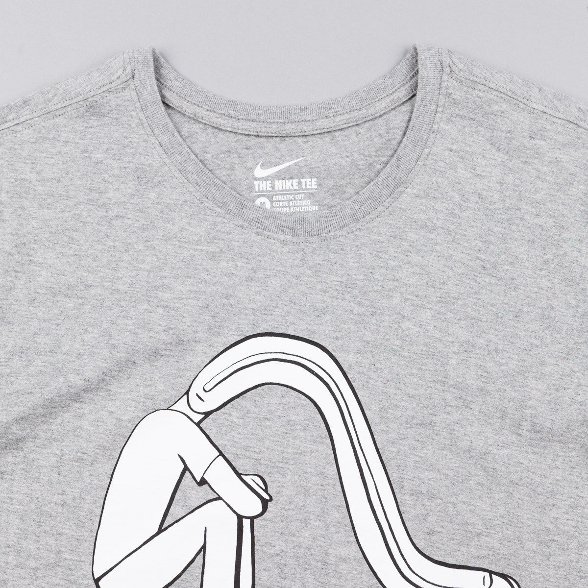 Nike SB Geoff McFetridge 3 T-Shirt - Dark Grey Heather / White