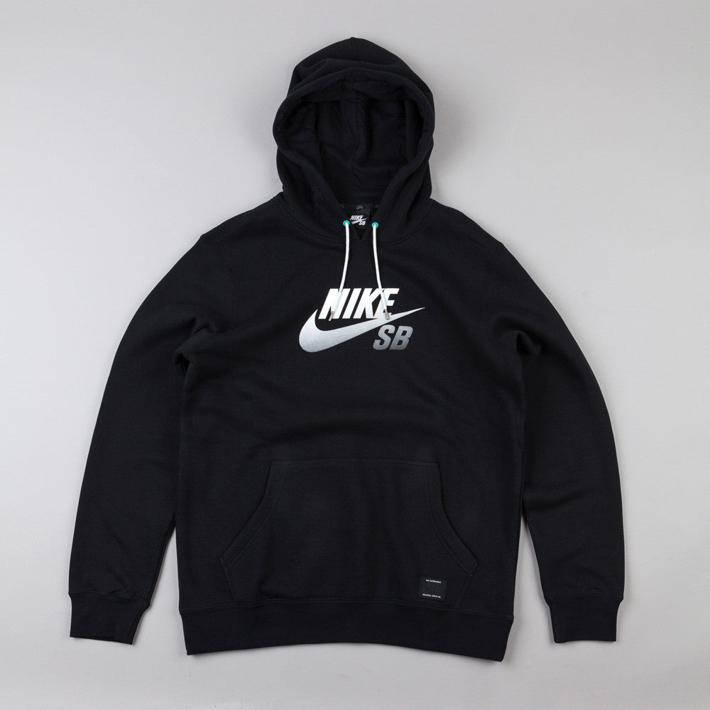 Nike Sb Icon Gradient Hooded Sweatshirt Black / White