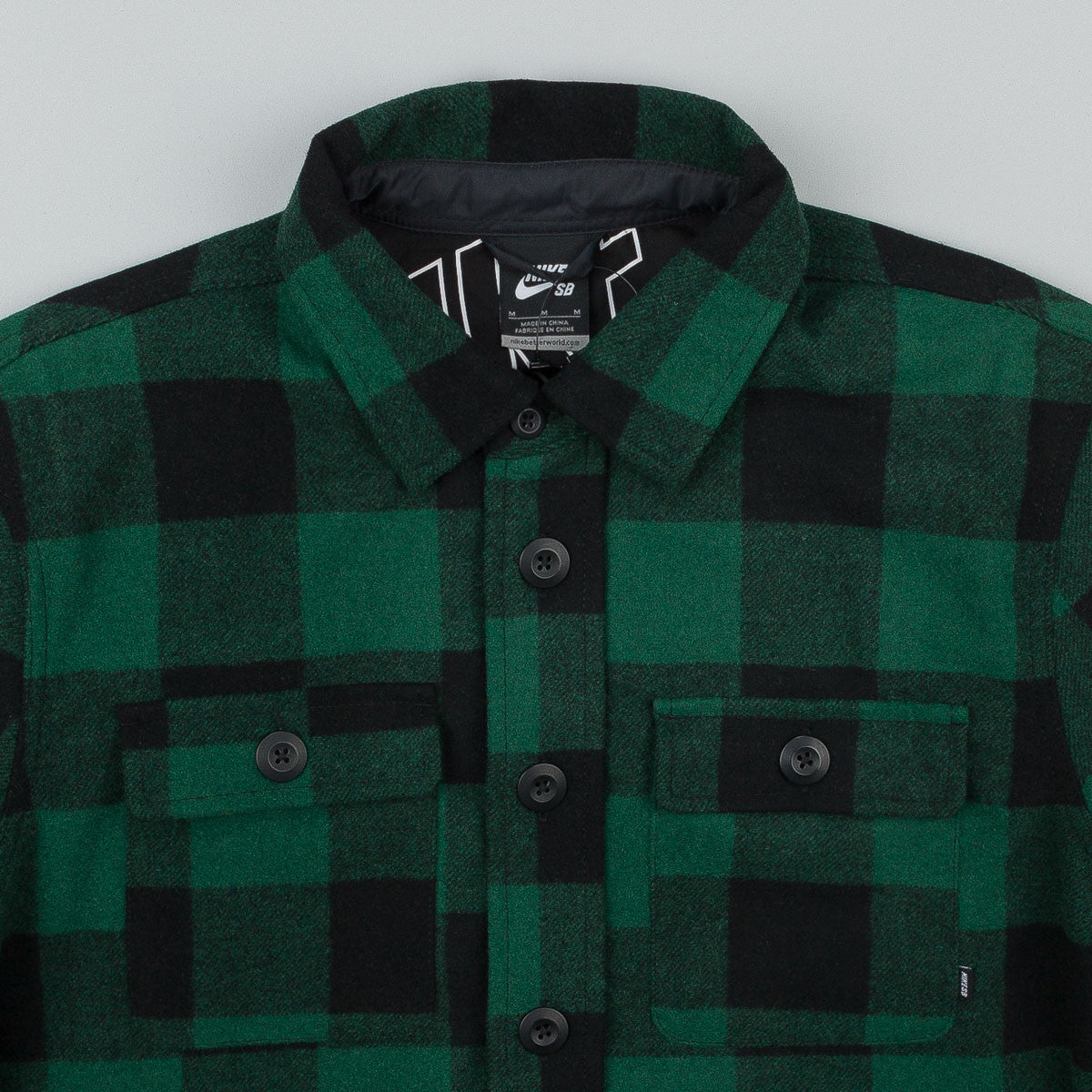 Nike SB Holgate Wool Long Sleeve Shirt - Green