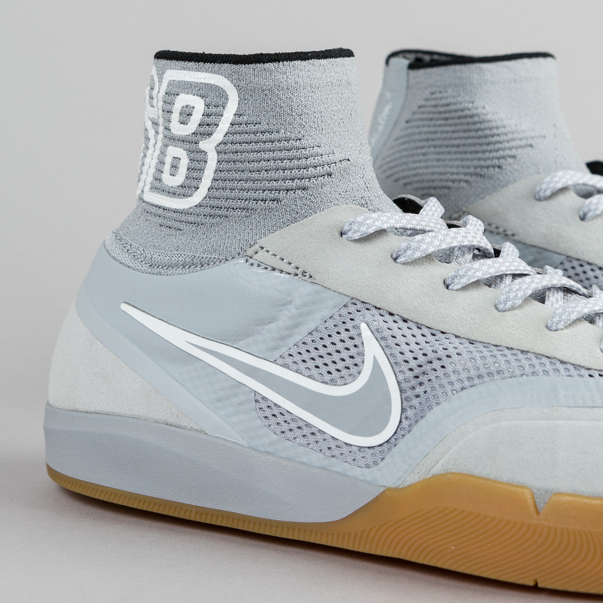 Nike SB Koston 3 Hyperfeel Shoes - Wolf Grey / Wolf Grey - White - Black