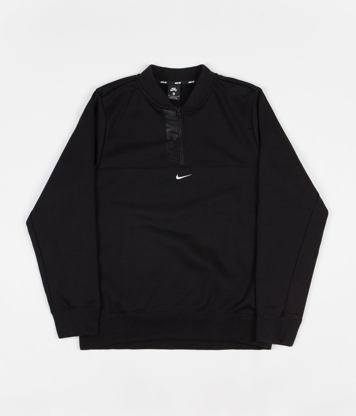 Nike SB Icon 1/2 Zip Sweatshirt - Black / White
