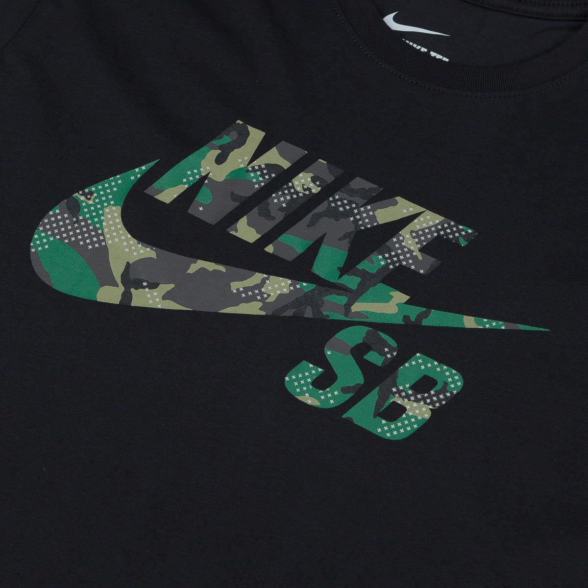 Nike SB Icon Camo Fill T-Shirt - Black