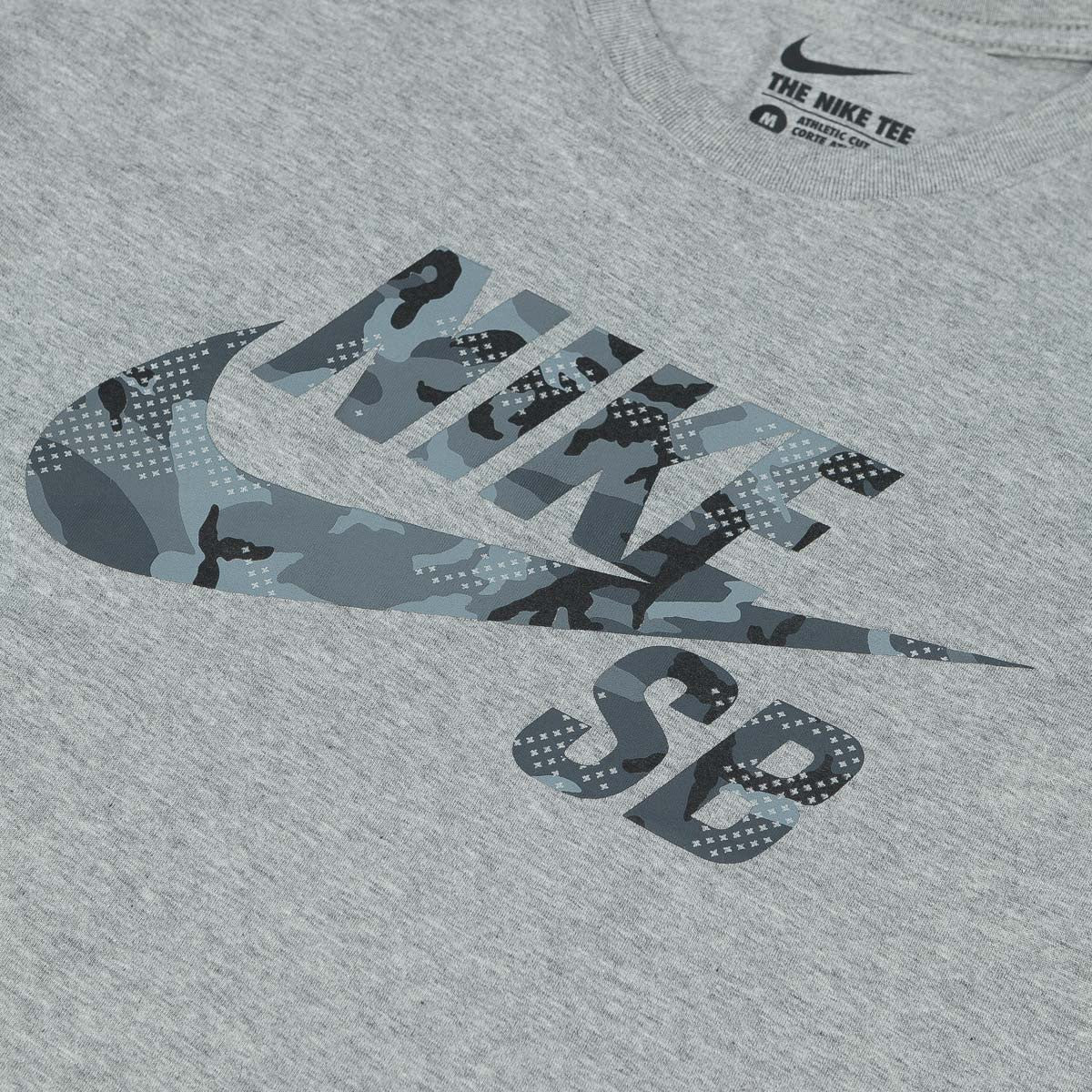 Nike SB Icon Camo Fill T-Shirt - Dark Grey Heather