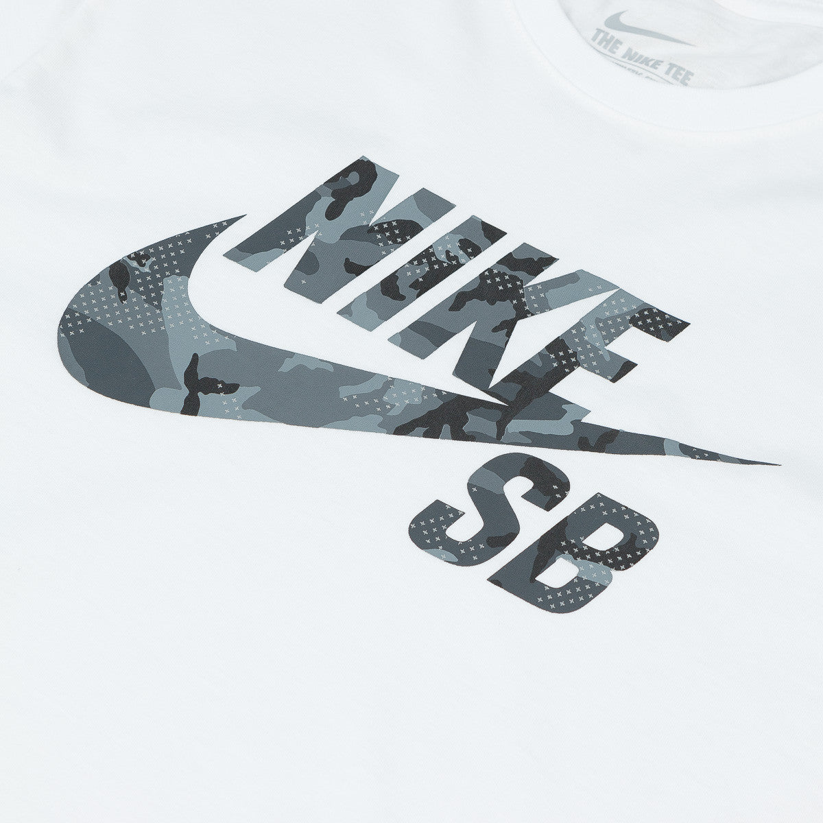 Nike SB Icon Camo Fill T-Shirt - White
