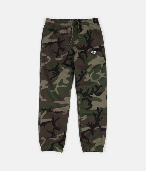 Nike SB Icon Camo Trousers - Medium Olive / Black