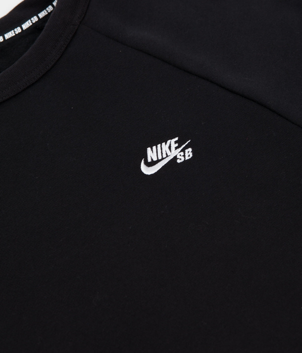 Nike SB Icon Crew Neck Sweatshirt - Black / White