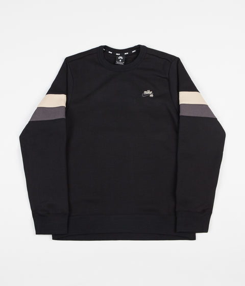 Nike SB Icon Crewneck Sweatshirt - Black / Desert Ore / Thunder Grey / Black