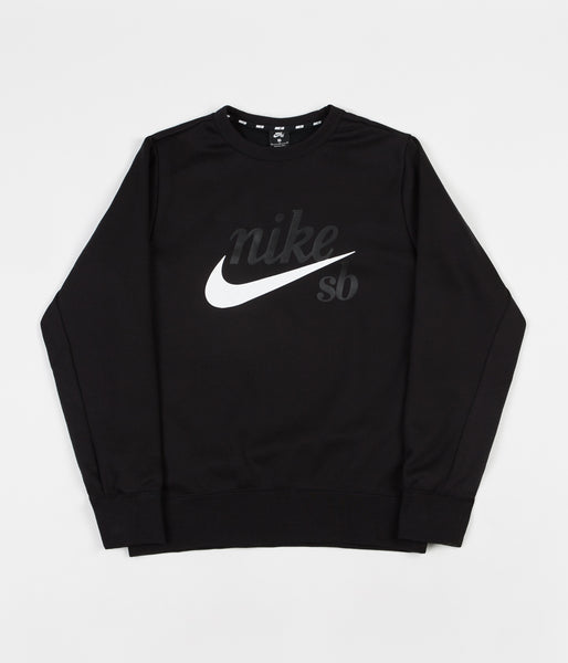 Nike SB Icon Crewneck Sweatshirt - Black / White