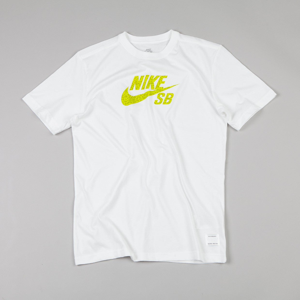 Nike Sb Dri-fit Icon Leopard T Shirt White