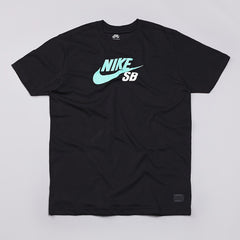 Nike Sb Icon Dri-fit T Shirt Black / Crystal Mint / White