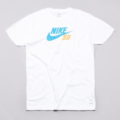 Nike Sb Icon Dri-fit T Shirt White / Blue / Orange