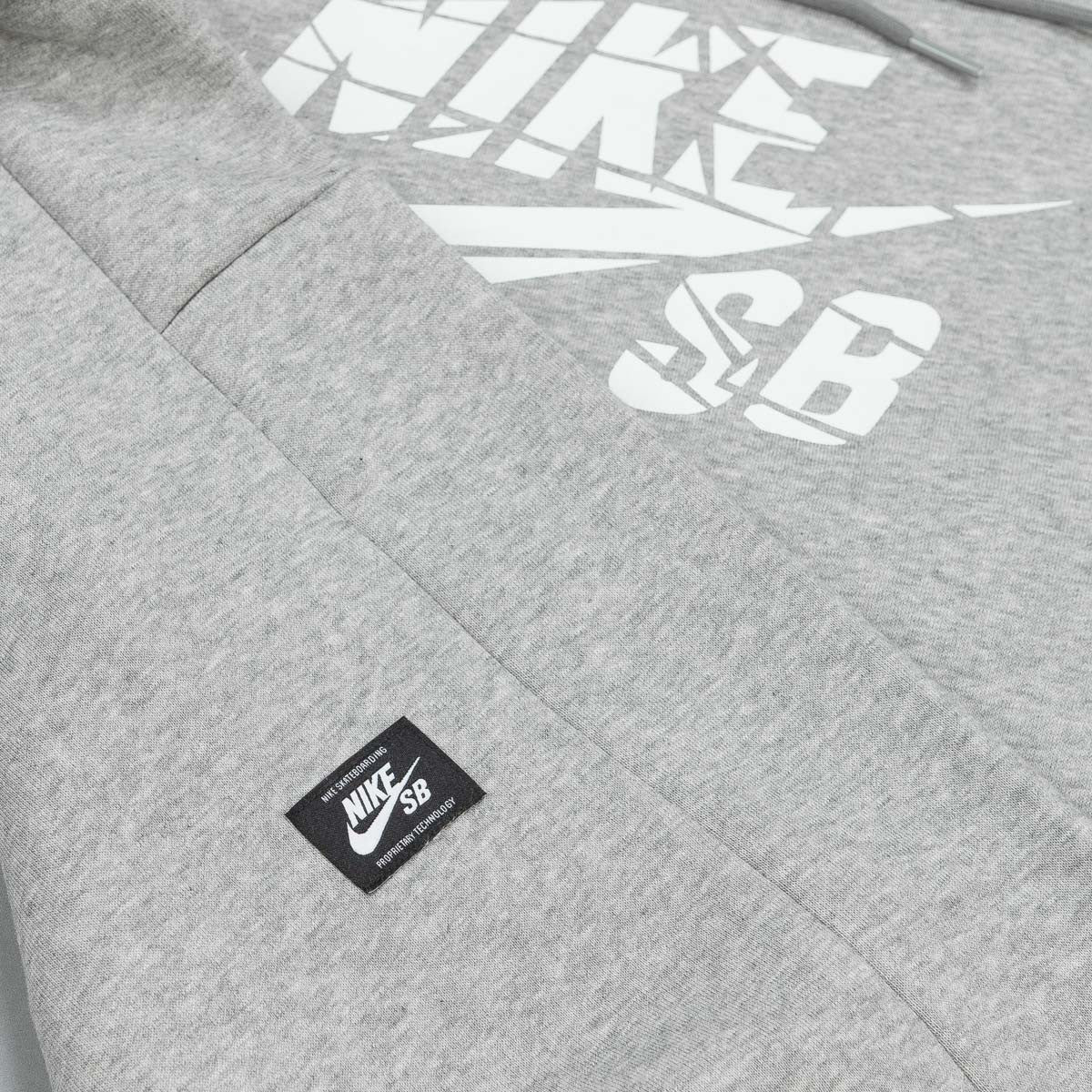 Nike SB Icon Grip Tape Hooded Sweatshirt - Heather Grey