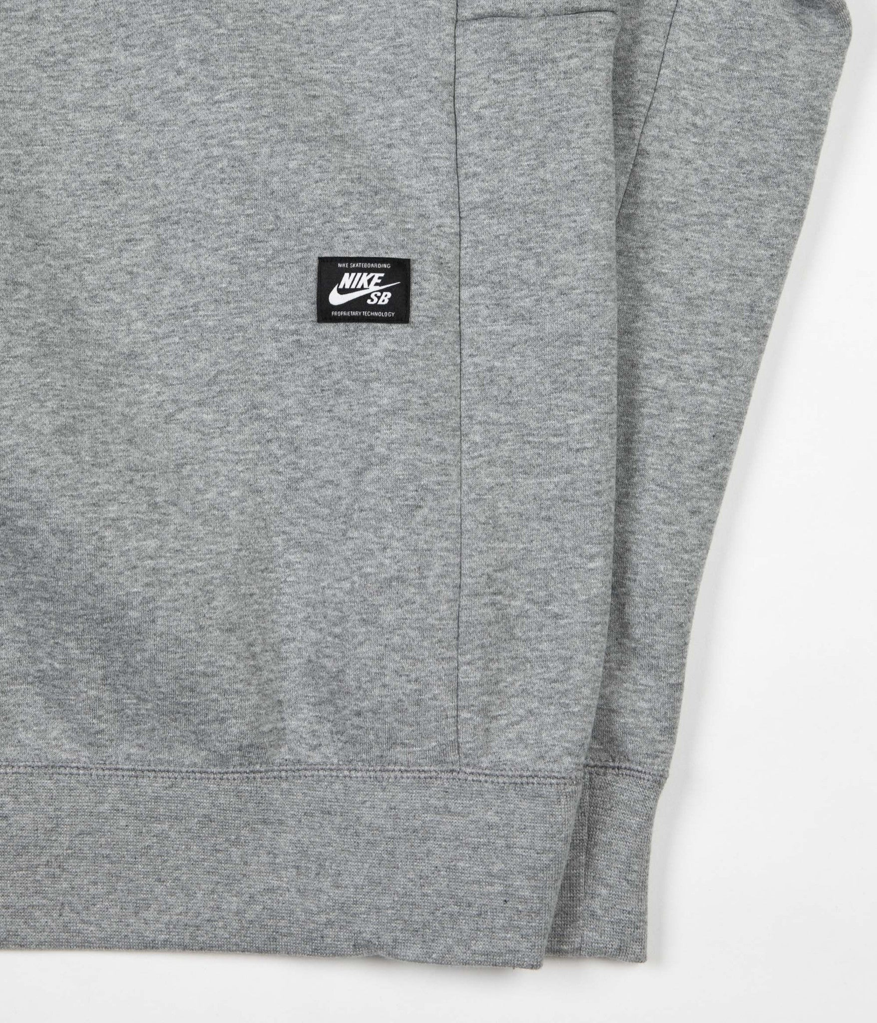 Nike SB Icon Hooded Sweatshirt - Dark Grey Heather / Prism Pink