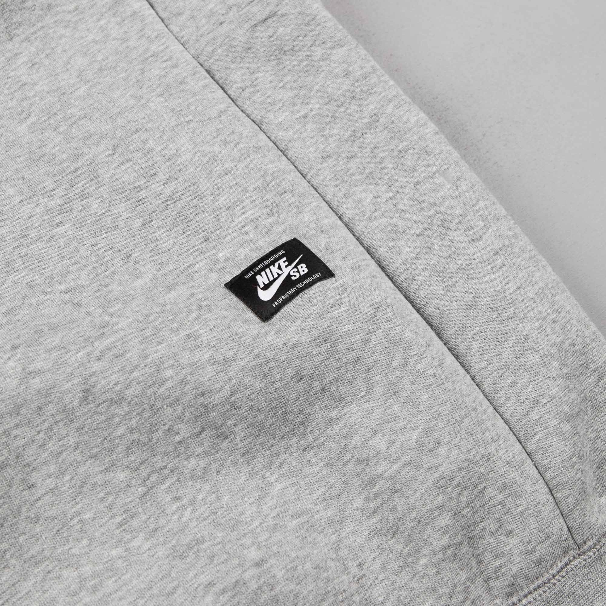 Nike SB Icon Hooded Sweatshirt - Dark Grey Heather / White