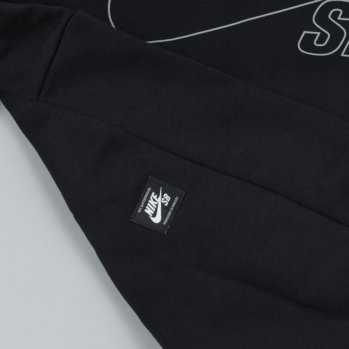 Nike SB Icon Reflective Hooded Sweatshirt - Black