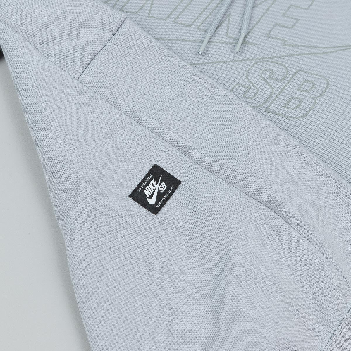 Nike SB Icon Reflective Hooded Sweatshirt - Wolf Grey