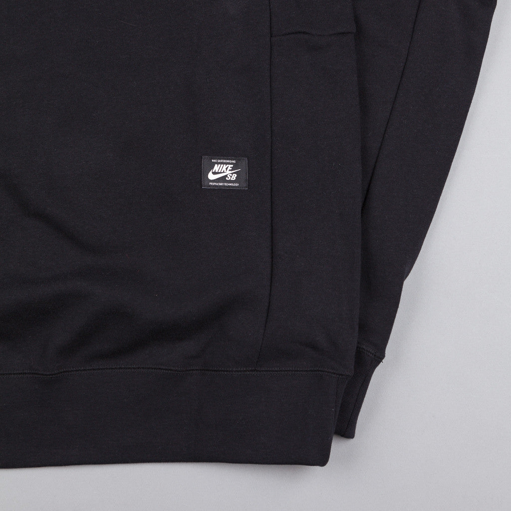 Nike SB Icon Stripe Hooded Sweatshirt - Black / White