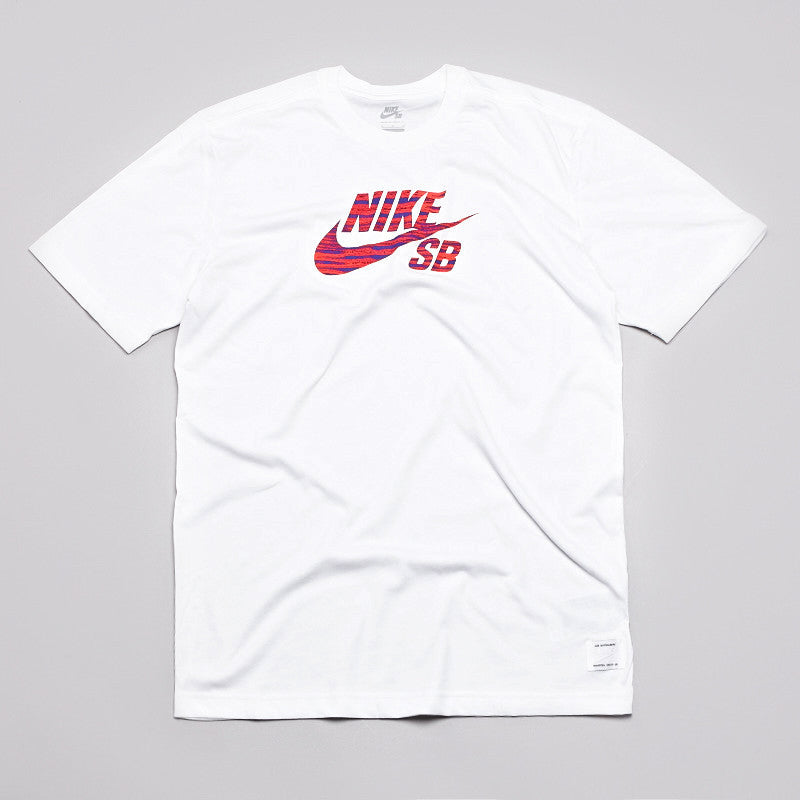 Nike Sb Dri-Fit Icon Zebra T Shirt White / Crimson