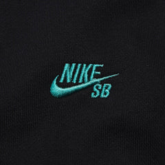 NIke SB Icon Zipped Hooded Sweatshirt Black / Crystal Mint