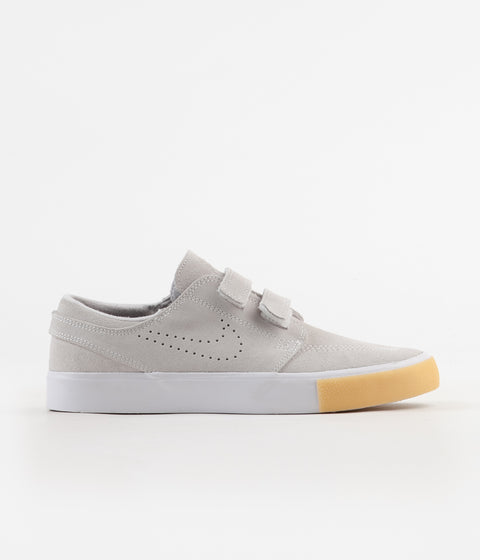 Nike SB Janoski AC Remastered Shoes - White / White - Vast Grey - Gum Yellow