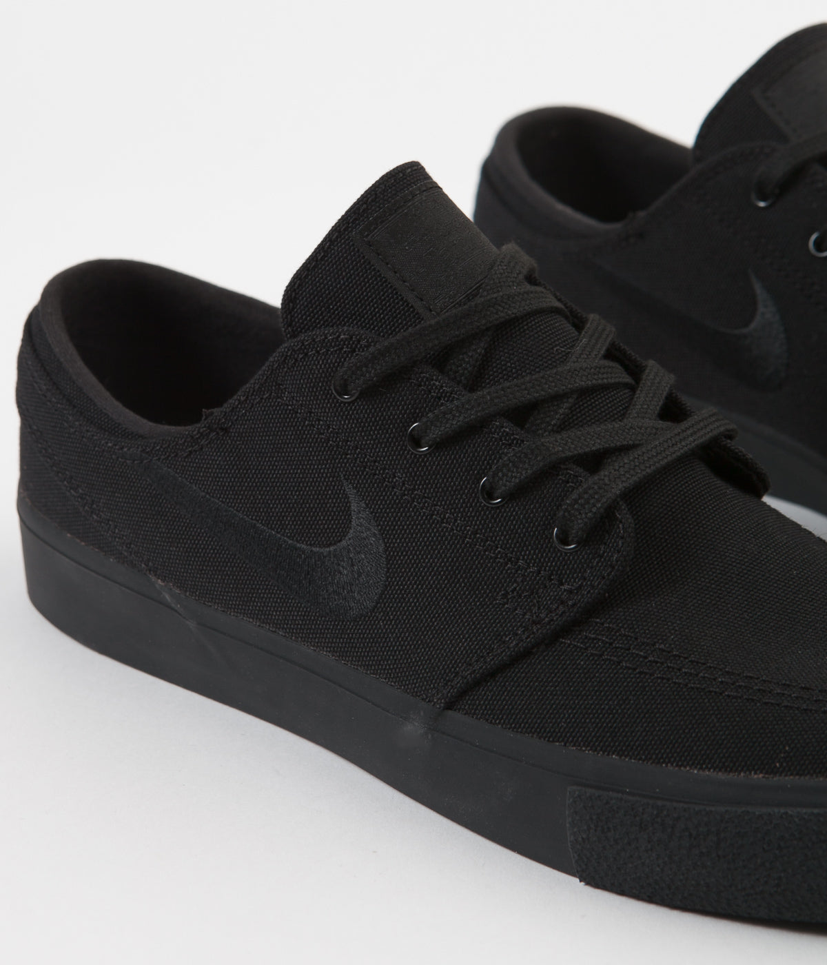 Nike SB Janoski Canvas Remastered Shoes - Black / Black - Black - Black