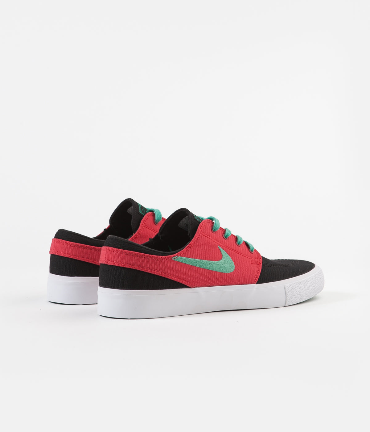 Nike SB Janoski Canvas Remastered Shoes - Black / True Green - Atom Red - White