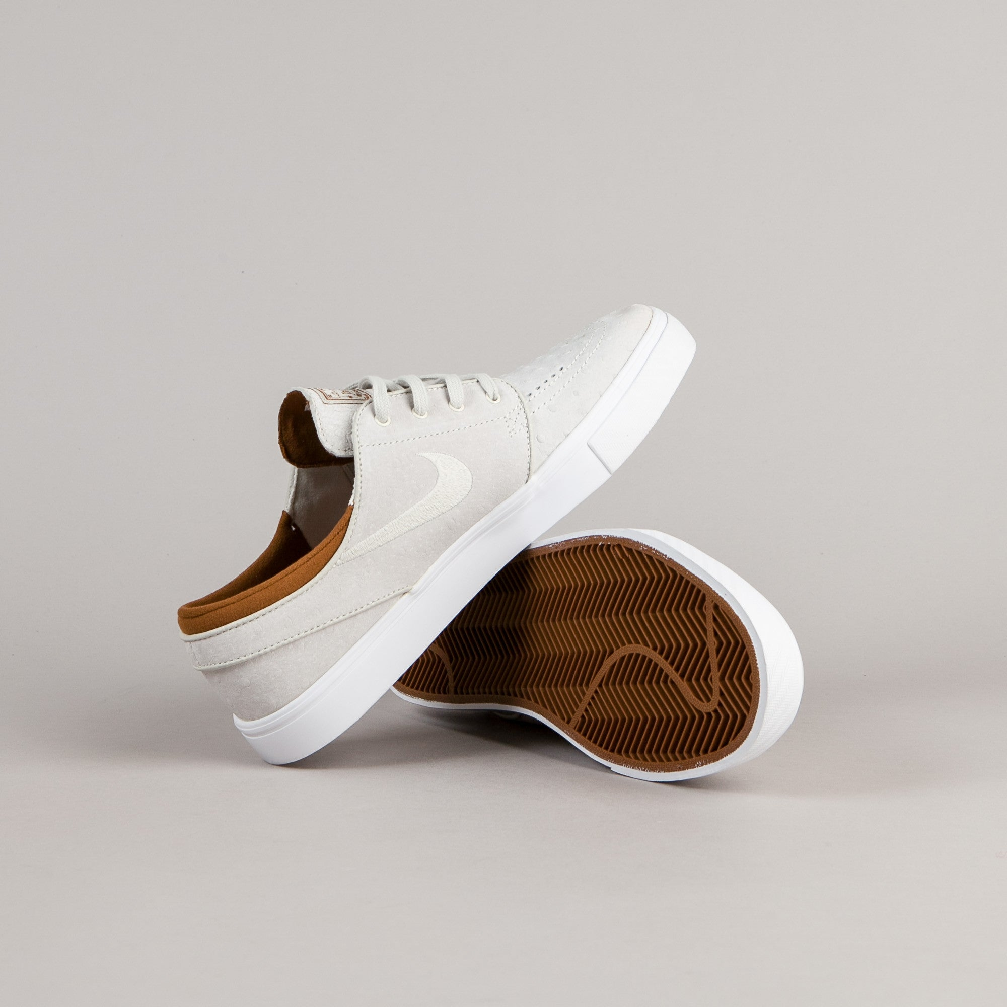 Nike SB Stefan Janoski Leather Shoes - Ivory / Light Bone - Hazelnut