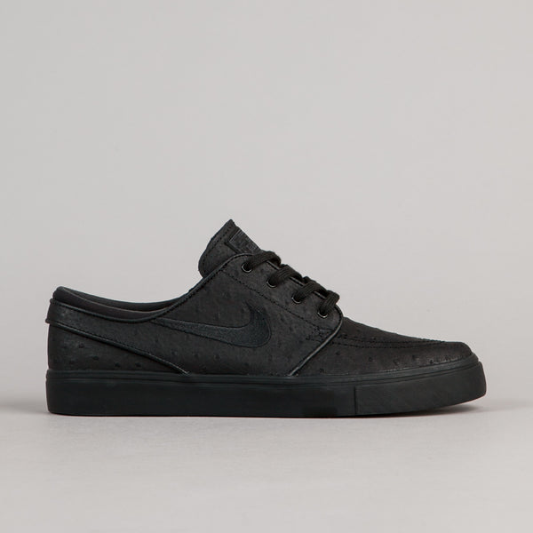 Nike SB Stefan Janoski Leather Shoes - Black / Black - Anthracite | Flatspot