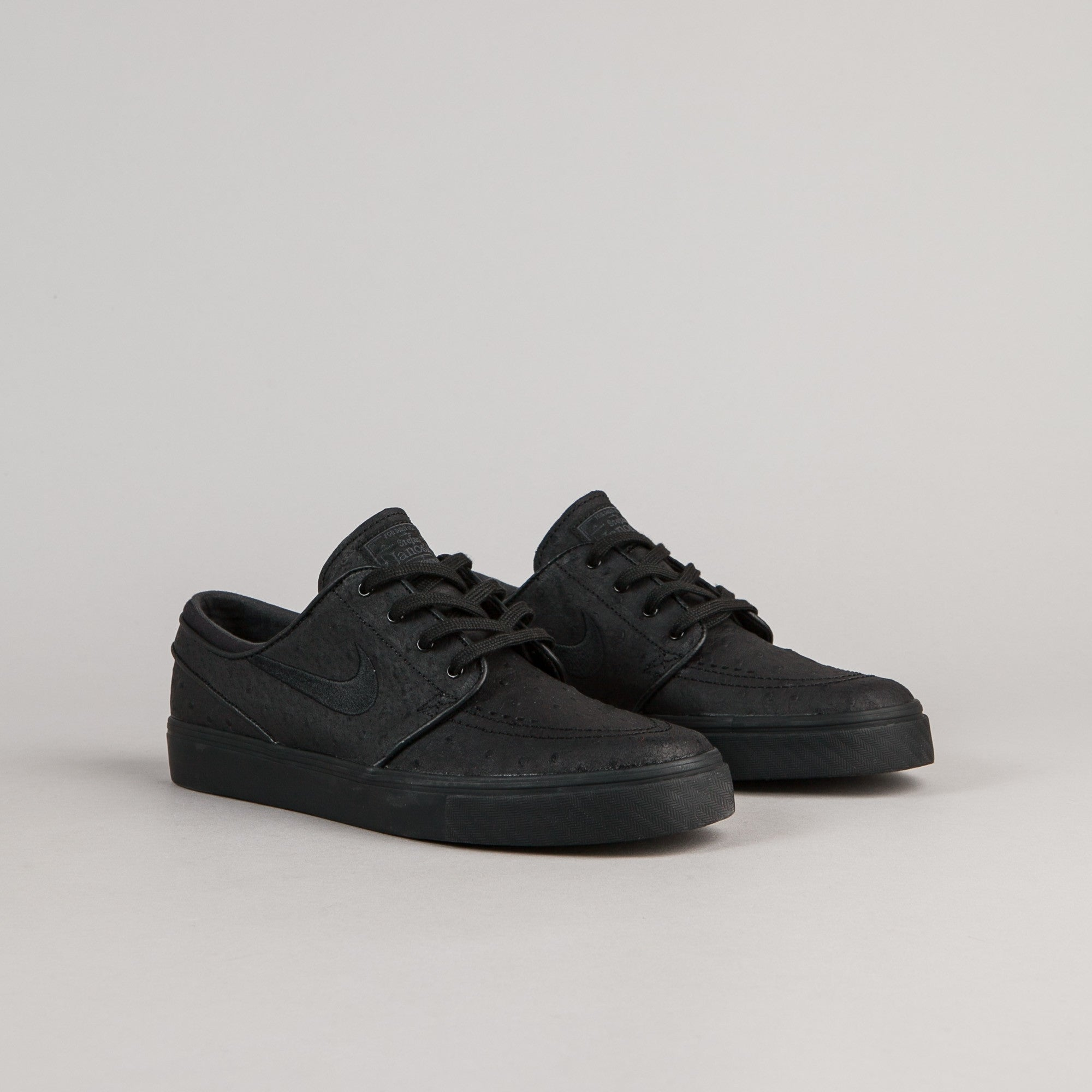 excellent quality 100% high quality picked up Nike SB Stefan Janoski Leather Shoes - Black / Black ...