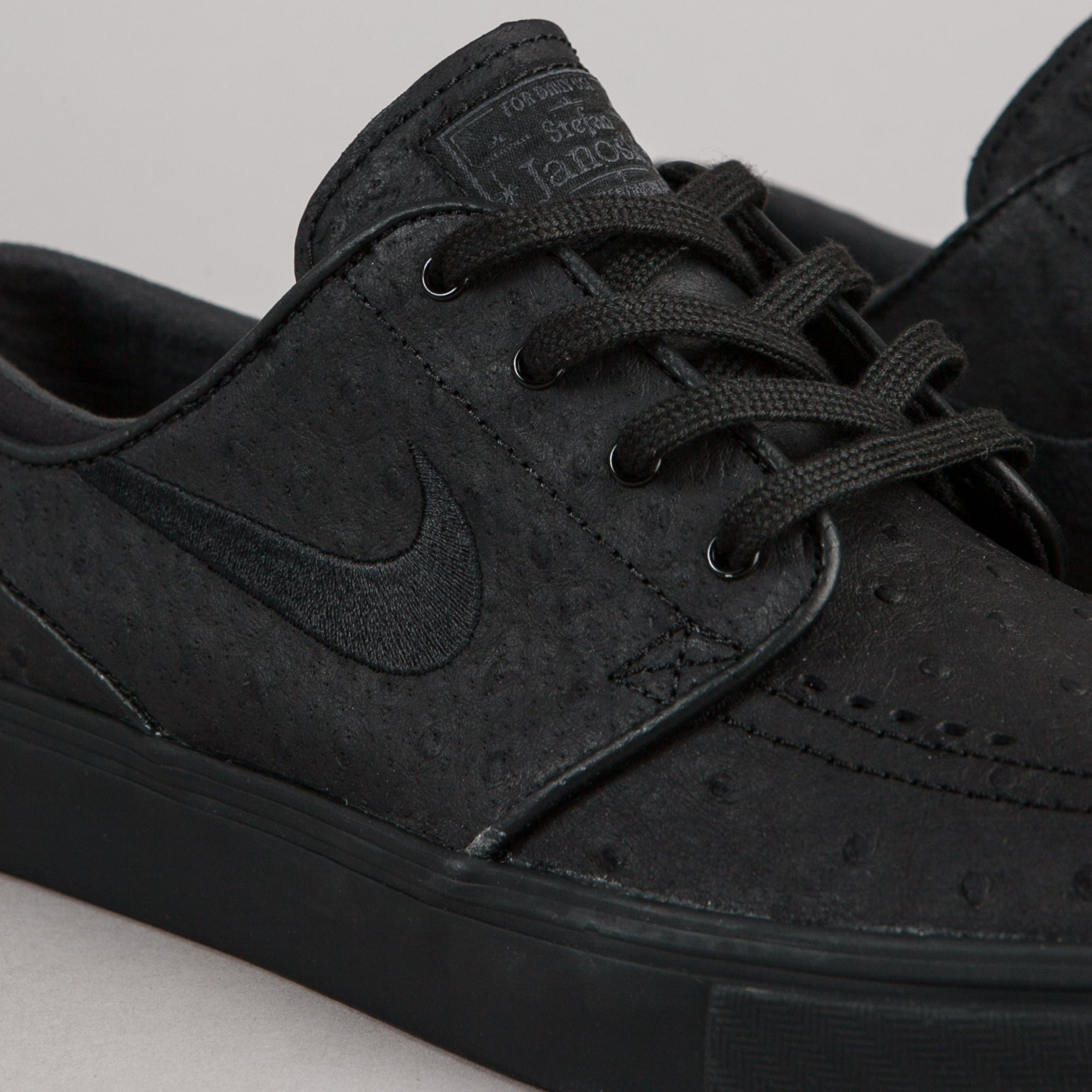 the best attitude 46d08 875c9 ... Nike SB Stefan Janoski Leather Shoes - Black   Black - Anthracite ...