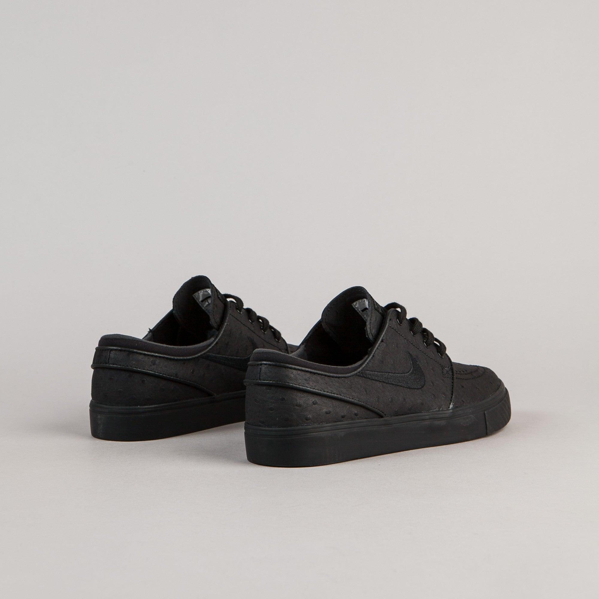 Nike SB Stefan Janoski Leather Shoes - Black / Black - Anthracite