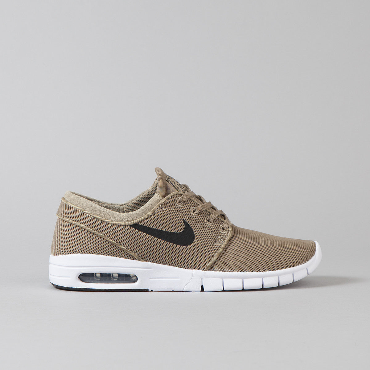 nike sb stefan janoski max shoes khaki black white flatspot. Black Bedroom Furniture Sets. Home Design Ideas