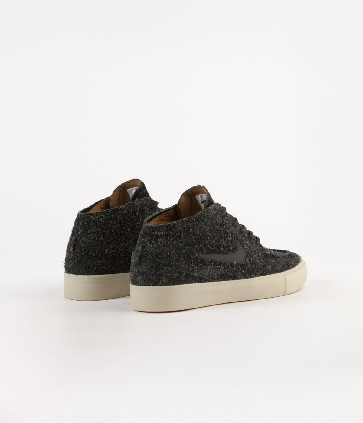 7948a6a3e42c6 Nike SB Janoski Mid Crafted Shoes - Black   Black - Golden Beige - Team Gold