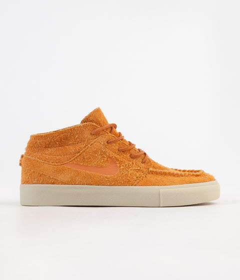Nike SB Janoski Mid Crafted Shoes - Cinder Orange / Cinder Orange - Team Gold