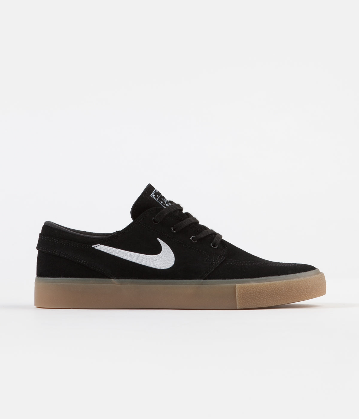 Nike SB Janoski Remastered Shoes - Black / White - Black - Gum Light Brown