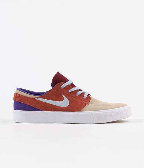 Nike SB Janoski Remastered Shoes - Desert Ore / Light Armory Blue - Dusty Peach