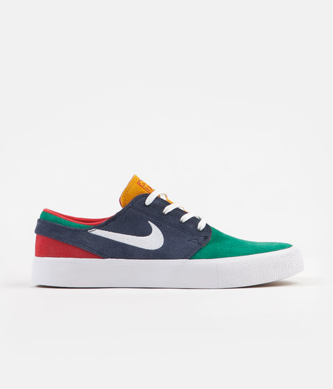 Nike SB Janoski Remastered Shoes - Lucid Green / White - Obsidian