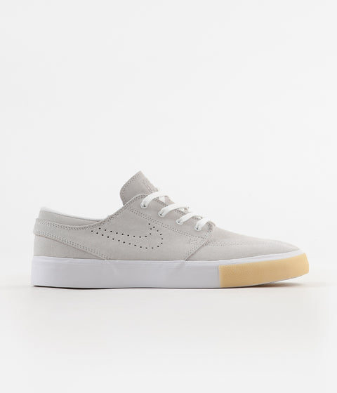 Nike SB Janoski Remastered Shoes - White / White - Vast Grey - Gum Yellow
