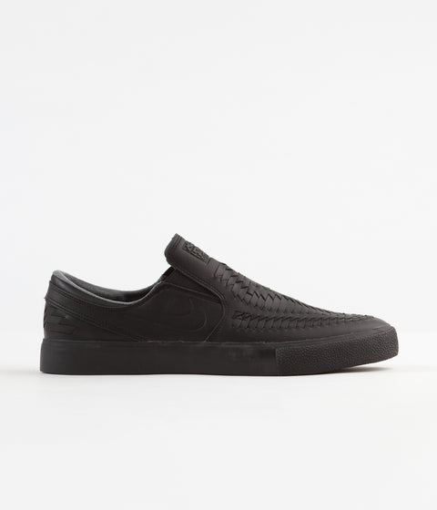 Nike SB Janoski Slip On Remastered Crafted Shoes - Black / Black - Black - Black