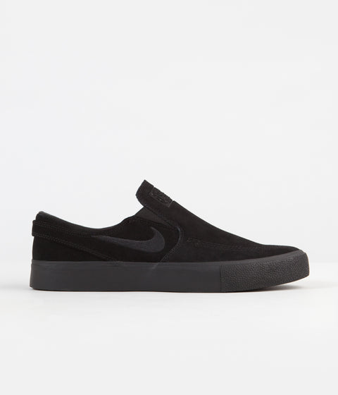 Nike SB Janoski Slip On Remastered Shoes - Black / Black - Black - Black