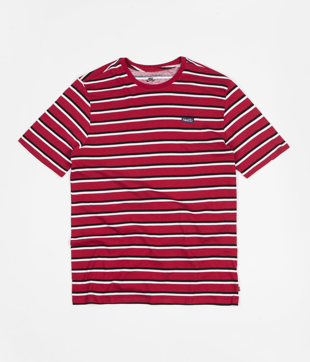 Nike SB JDI Stripe T-Shirt - White / Red Crush / Red Crush