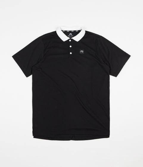 Nike SB Jersey Polo Shirt - Black / White / Black