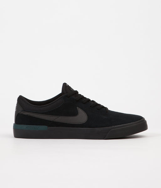Nike SB Koston Hypervulc Shoes - Black / Metallic Black - Dark Atomic Teal